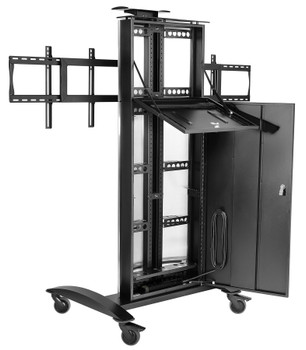 "SmartMount® Flat Panel Video Conferencing Cart for (2) 40"" to 55"" Displays"