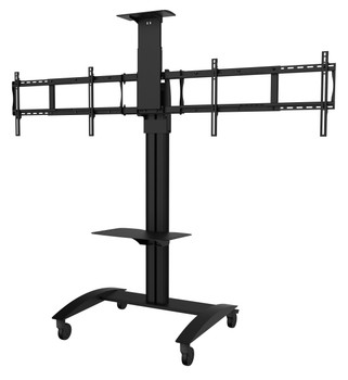 "SmartMount® Flat Panel Video Conferencing TV Cart for (2) 40"" to 65"" TVs"