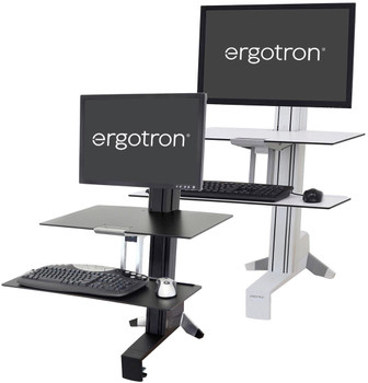 """WorkFit-S, Single HD Workstation with Worksurface for Heavy Display (16–28 lbs monitor, =<30"""")"""