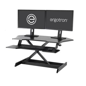 """WorkFit® Corner Standing Desk Converter Sit-Stand Desk Workstation, =<30"""""""