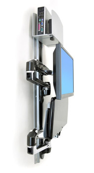 LX Wall Mount System Keyboard & Monitor Mount with Medium CPU Holder, ≤32""