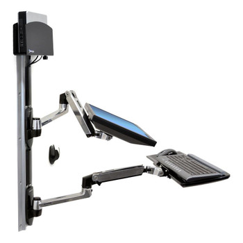 LX Wall Mount System Keyboard & Monitor Mount with Small CPU Holder, ≤32""