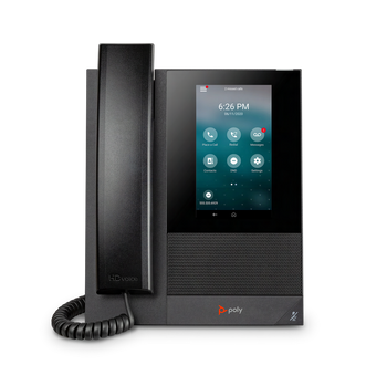 CCX 400  Business Media Phone. Open SIP. PoE only. Ships with NA power supply