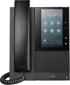 CCX 500 Business Media Phone. Microsoft Teams/SFB. PoE only. Ships without power supply