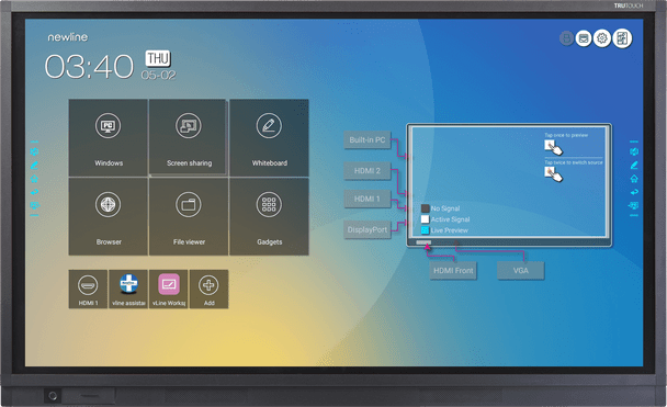 """Newline TRUTOUCH 980RS+ Ultra-HD LED Multi-touch Display 98"""""""