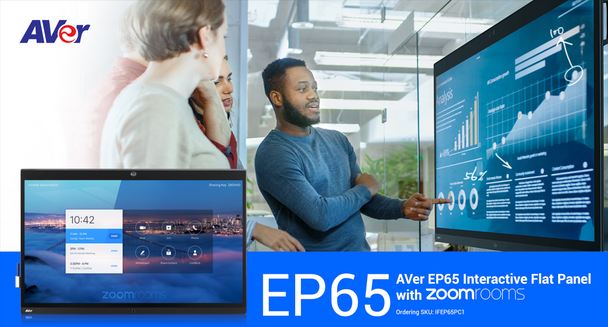"""EP65 Enterprise Interactive Flat Panel 65"""" with ZoomRooms"""