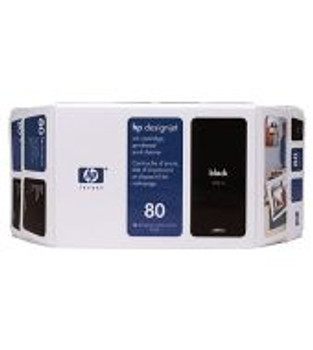 DESIGNJET 1000 #80 350ML, BLACK INK CART. VALUE PACK