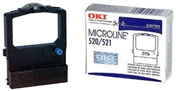 Okidata Oki 52107001 Ribbon for Microline 520/521: BLACK (4M) (52107001)