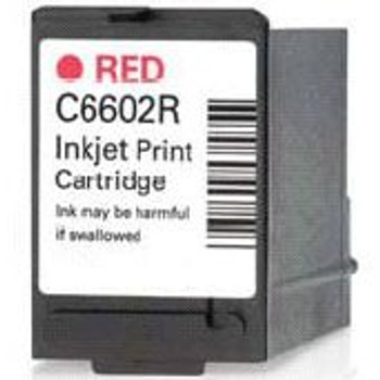 C6602R Red Inkjet Cartridge For Ithaca Printers