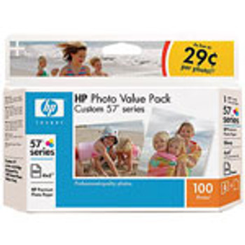 HP CUSTOM #57S PHOTO VALUE PACK 100 SHT,  Q7926AC