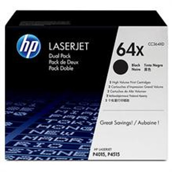 #64X BLACK DUAL PACK LASERJET TONER CARTRIDGES
