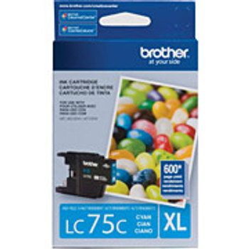 BROTHER LC75CS HIGH YIELD CYAN Compatible INK