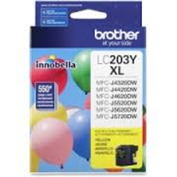 Brother LC203YS Yellow Ink Cartridge, High-Yield