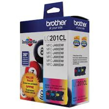 BROTHER INKJET LC201 3PK C/M/Y 5/BX