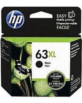 HP 63XL Black High Yield Original Ink Cartridge (F6U64AN)