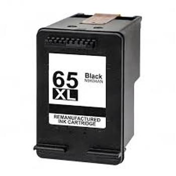 COMPATIBLE BLACK INKJET CARTRIDGE FITS PRINTERS USING HP 65XL, (N9K04AN#140)