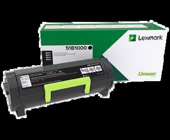Lexmark MS317dn, MS417dn, MS517dn, MS617dn, MX317dn, MX417de, MX517de, MX617de Lexmark Return Program Toner Cartridge (51B1000)