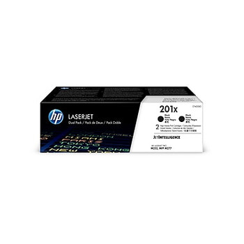 HP 201X (CF400XD) Black Original LaserJet Toner Cartridge, High Yield, 2/Pack (CF400XD)