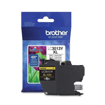 Brother LC3013Y Yellow OEM Ink Cartridge, High Yield (LC3013Y)