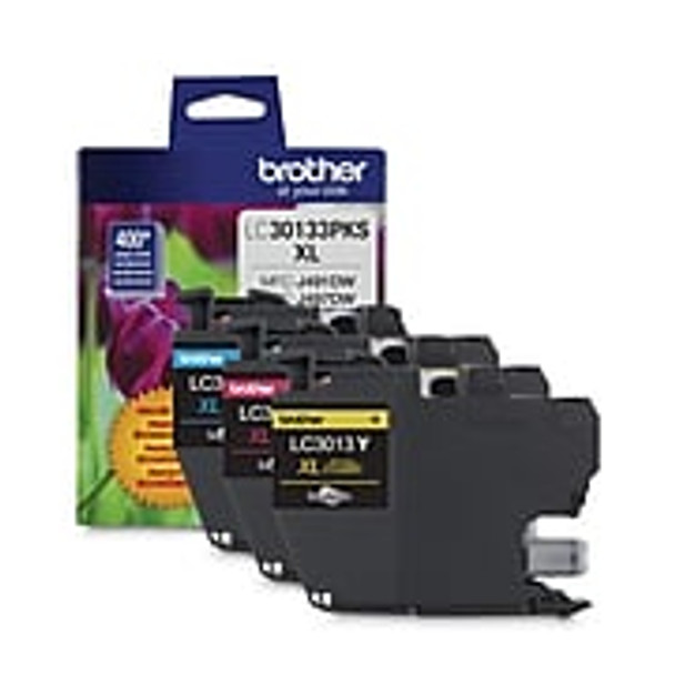Brother LC30133PKS Colour Ink Cartridge, High Yield, 3/Pack