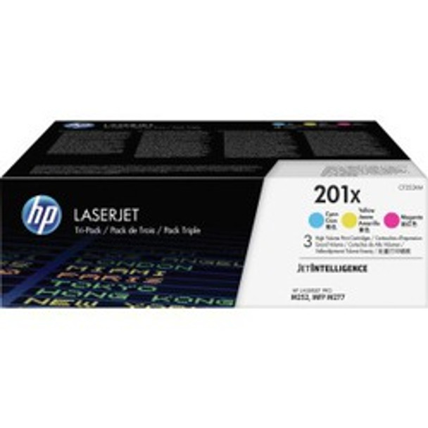 HP 201X (CF253XM) Cyan, Mgenta, Yellow Original LaserJet Toner Cartridge, High Yield, 3/Pack (CF253XM)