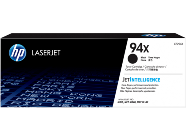 HP 94X Black Original LaserJet Toner Cartridge (CF294X) (CF294X)