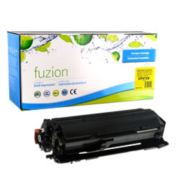 HP 657X (CF472X) Yellow High Yield Compatible LaserJet Toner Cartridge (HCF472X)