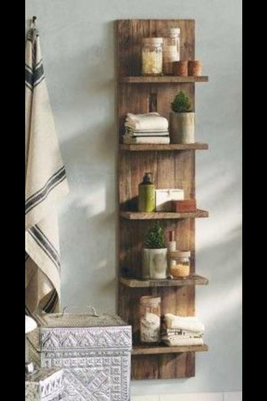 Rustic Bathroom Kitchen Shelves