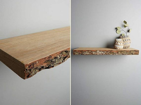 Floating Shelves Living Room Mirror