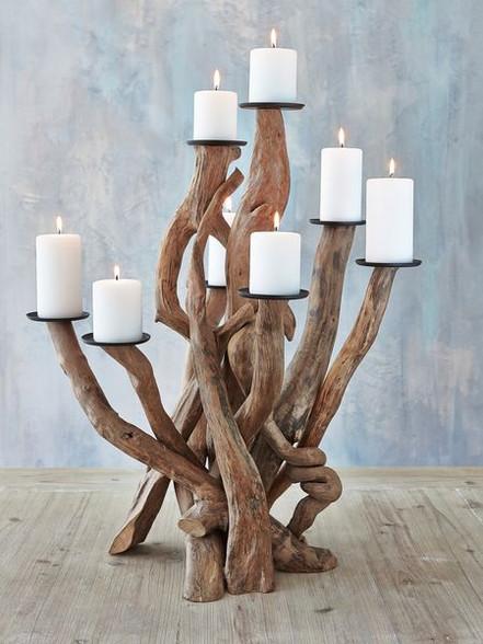 Driftwood Candelabra Candle Holder Wedding Centrepiece