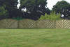 V Arched Fence Panel (1800 x 900mm) - Pressure Treated Green Timber