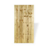 Closeboard garden gate in natural colour wood Front View