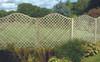 Omega Full Lattice Fence Panel (1800 x 1800mm) - Pressure Treated Green Timber