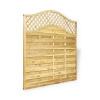 Omega Lattice Fence Panel (1.8 x 1.8m) - Pressure Treated Green Timber