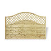 Omega Lattice Top Fence Panel (1800 x 1200m) - Pressure Treated Green Timber
