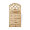 Arched Lattice Top Gate (1800 x 900mm) - Pressure Treated Green Timber