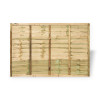 6ft Traditional Lap Fence Panel (1830 x 1200mm) - Pressure Treated Green Timber