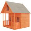 8 x 8 Lodge with Veranda and Split Level Upper Floor