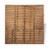 6ft Traditional Lap Fence Panel (1830 x 1800mm) - Dip Treated Brown Timber