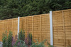 6ft Traditional Lap Fence Panel (1830 x 1650mm) - Dip Treated Brown Timber