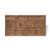 6ft Traditional Lap Fence Panel (1830 x 900mm) - Dip Treated Brown Timber
