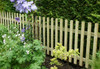 Picket Fence Panel 1.8m(W) x 900mm(H) Round Top (Natural)