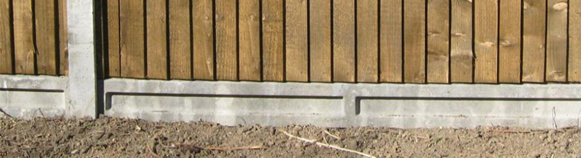 Installing Concrete Fence Posts and  Gravel Boards