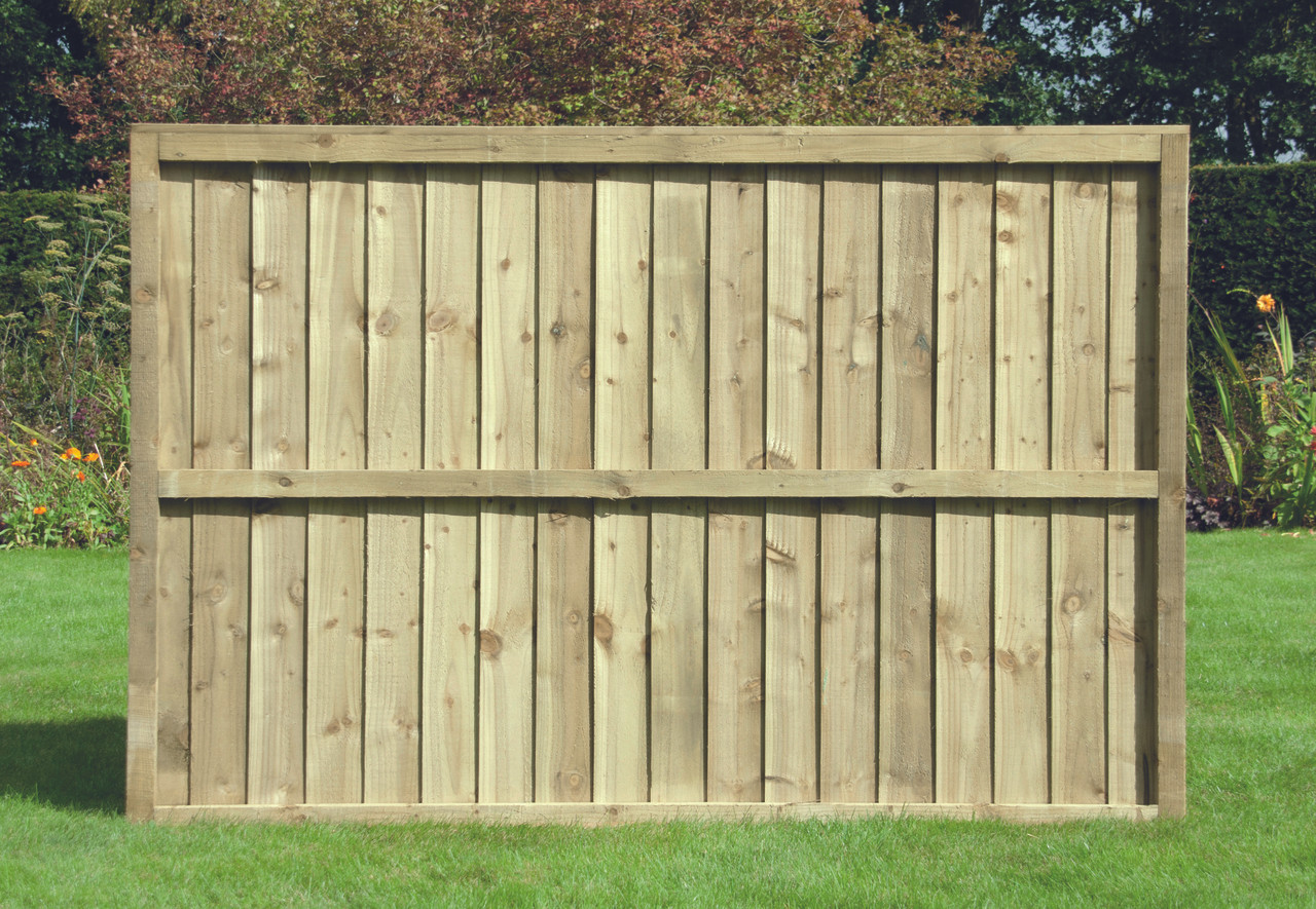 Closeboard Fence Panel (1830 x 900mm) - Pressure Treated Natural Timber
