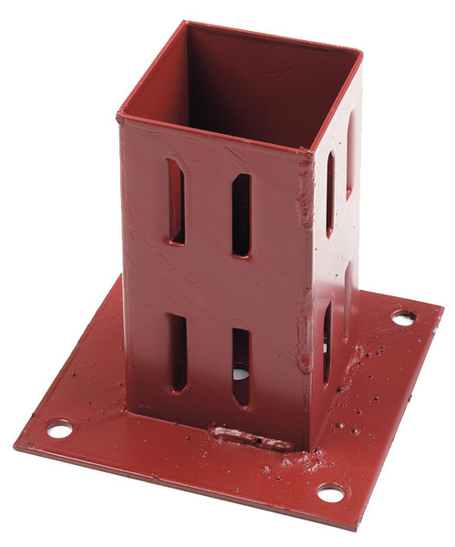 "Fencemate 3"" x  3"" hold fast bolt down post support epoxy brown"