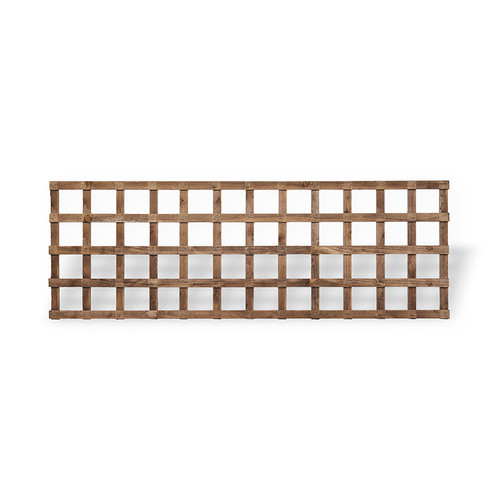 Traditional Square Trellis 1.83m(W) x 610mm(H) Dip Treated (Brown)