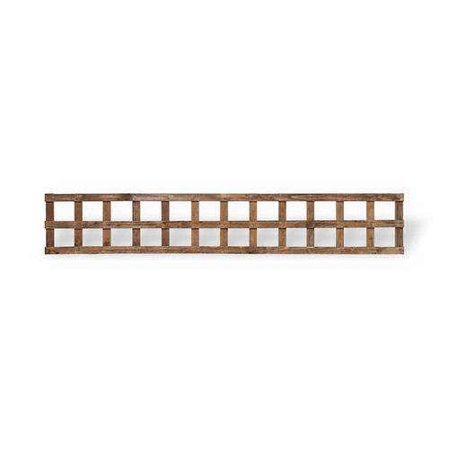 Traditional Square Trellis 1.83m(W) x 320mm(H) Dip Treated (Brown)