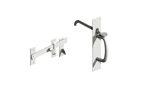 No 3 BZP Light Suffolk Latch (Pre-Packed With Screws)