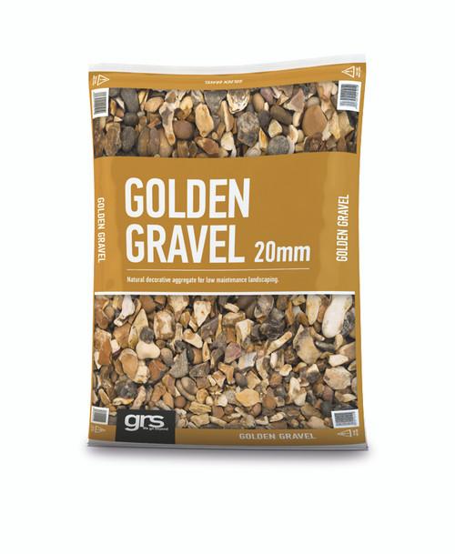 20mm Golden Gravel - 25KG Bag