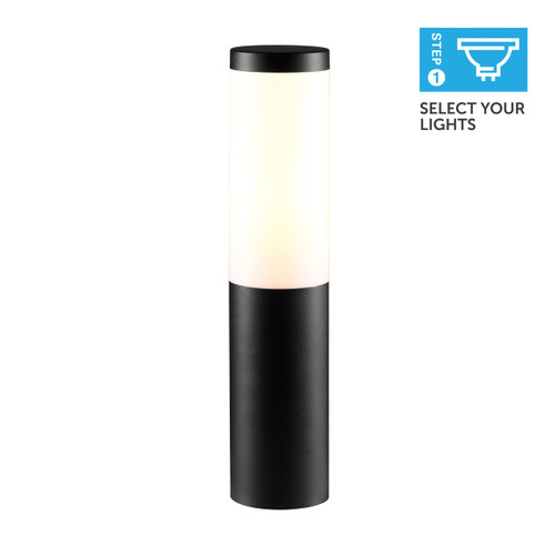 Ellumière Bollard Light - Black 3w LED, 0.5m cable, S/Steel spike, Black base